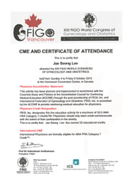 CME AND CERTIFICATE
